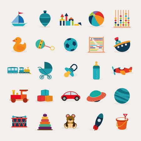 abstract schattig speelgoed op een witte achtergrond Stock Illustratie