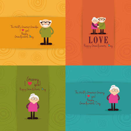 grandparents: abstract grandparents day background with some special objects