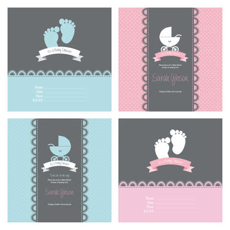 abstract baby shower background with some special objects