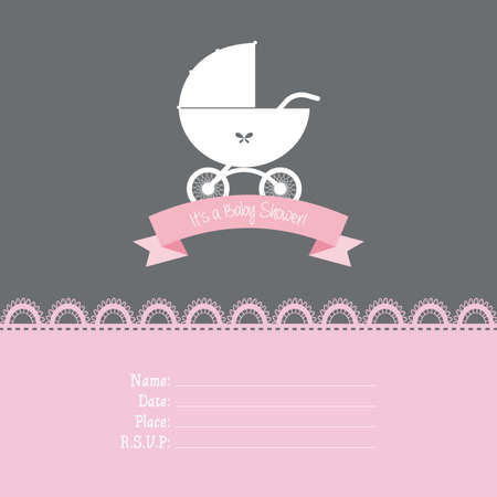 abstract baby shower background with some special objects Vector