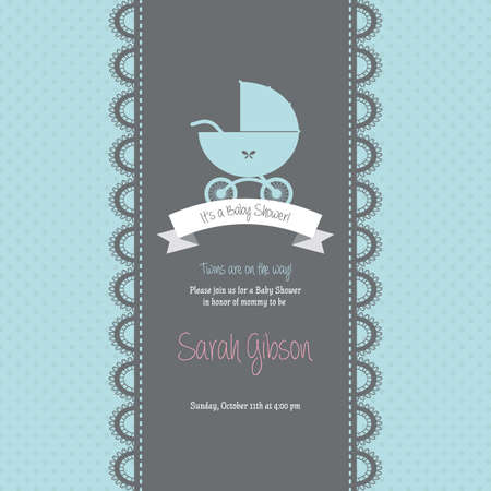 newborn: abstract baby shower background with some special objects