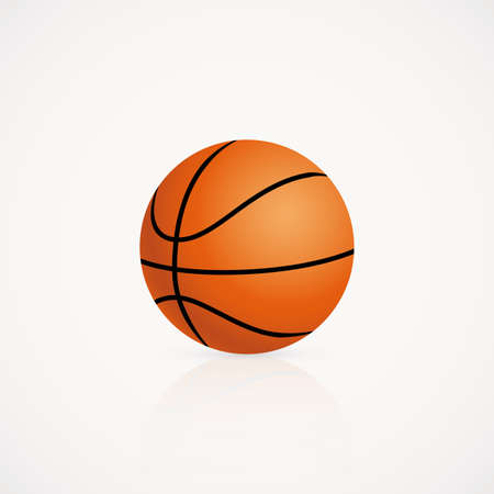 professional basketball league: abstract basketball ball on a white background Illustration