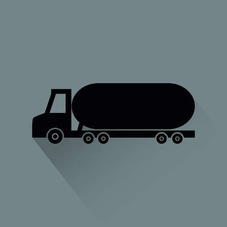 Abstract vehicle silhouette on a gray background Illustration