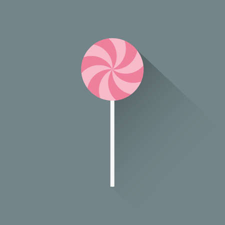 gray strip backdrop: abstract cartoon candy on a gray background Illustration
