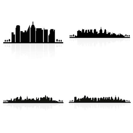 abstract building: abstract building silhouettes on a white background