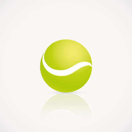 tennis ball: abstract tennis ball on a white background