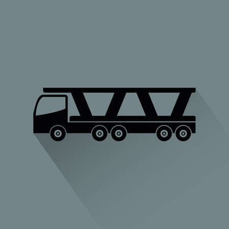 aerodynamics: Abstract vehicle silhouette on a gray background Illustration