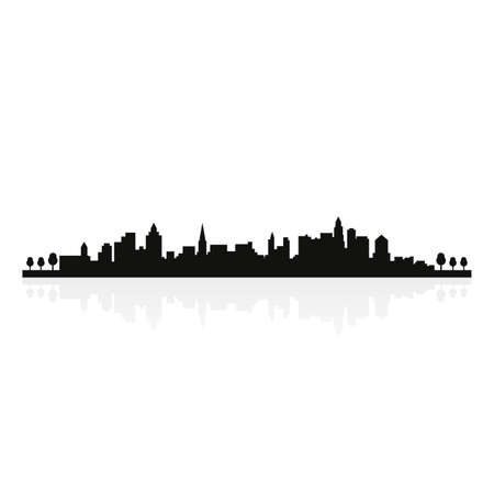 abstract building silhouettes on a white background Vector