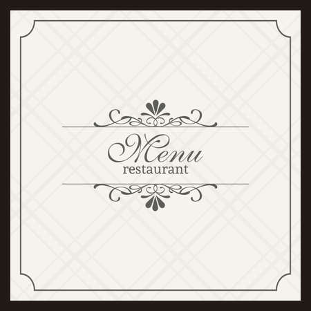 Abstract menu background with some special objects Vector