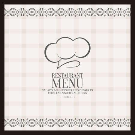 Abstract menu background with some special objects