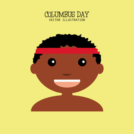 representative: abstract columbus day background with a representative person Illustration