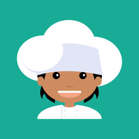 bstract: bstract cute chef on a blue background