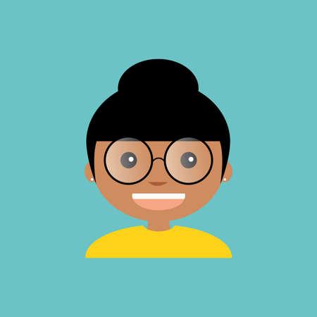 male teacher: abstract cute teacher on a blue background