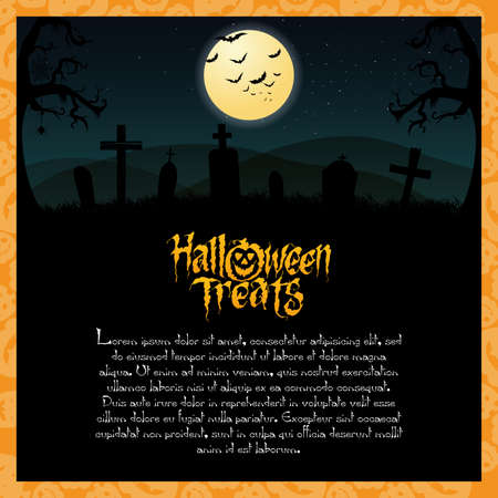 halloween background: abstract halloween background