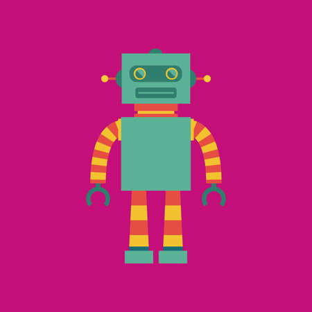 iron fun: abstract cute robot on a pink background
