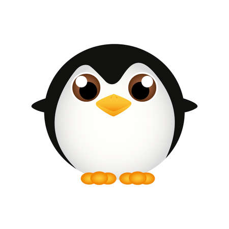 pinguin: abstract cute penguin on a white background