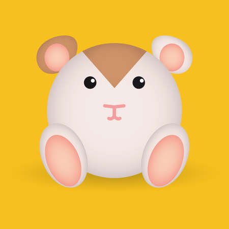 cute mouse: abstract cute mouse on a yellow background