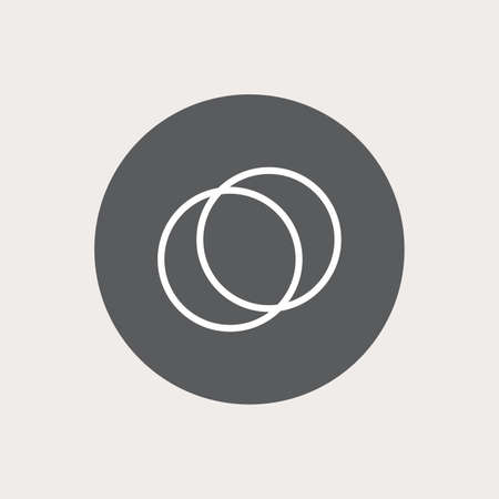 sport object: Abstract sport object on a gray circle on a white background Illustration