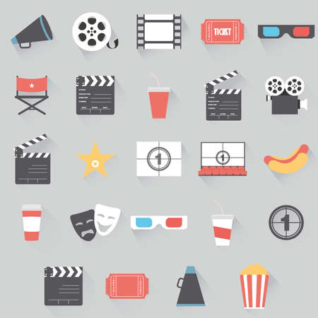 buttered: abstract cinema symbols on a gray background
