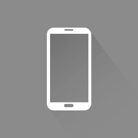 mobile device: abstract social media symbol on a gray background