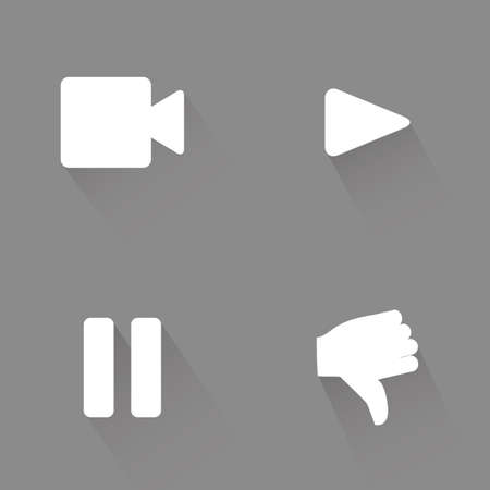 party down: Set of web icons on a grey background. Vector illustration