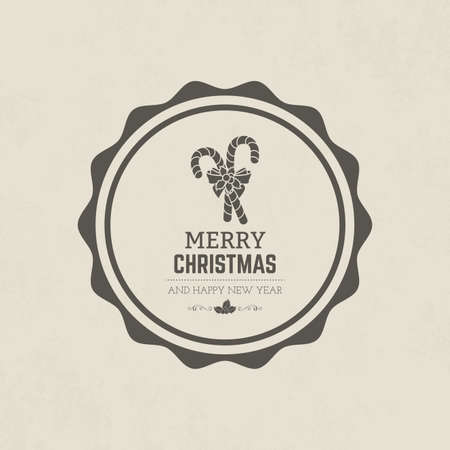 vector illustration: Isolated label with christmas icons. Vector illustration
