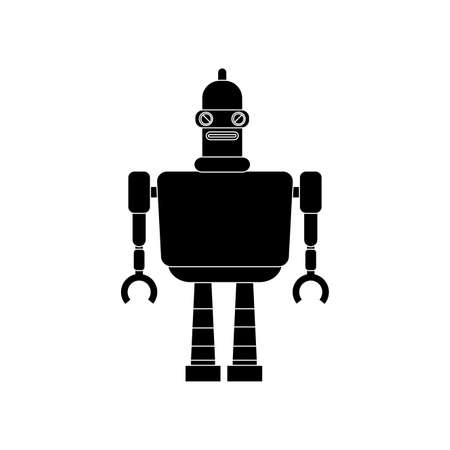 iron fun: abstract robot silhouette on a white background