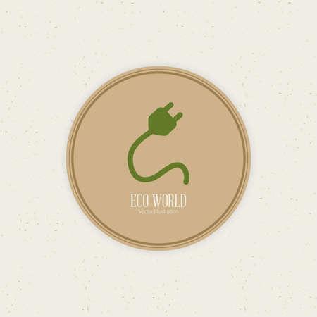sostenibilit�: Etichetta sostenibilit� astratto su uno sfondo bianco