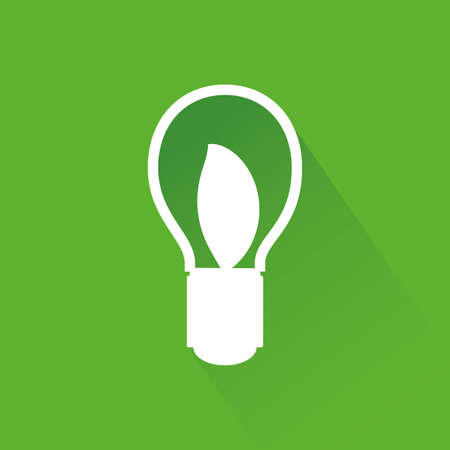 sustainability: abstract sustainability icon on a green background Illustration