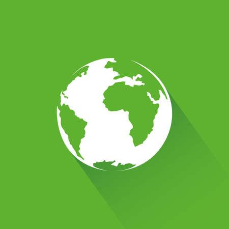 sustentabilidad: abstracto icono de la sostenibilidad en un fondo verde Vectores