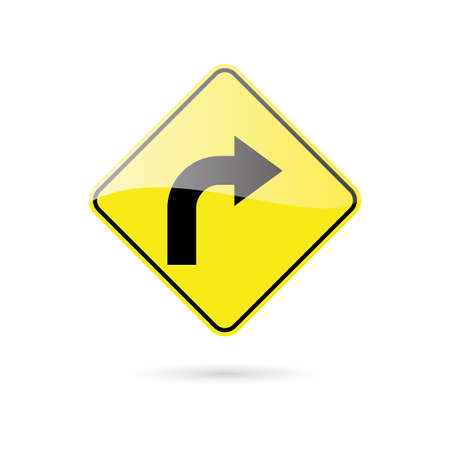 road traffic: abstract traffic signal on a white background Illustration