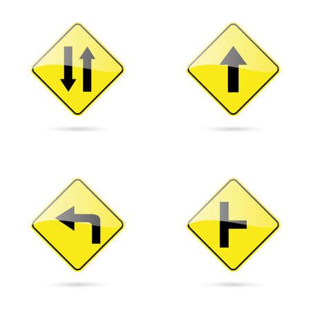 se�ales trafico: las se�ales de tr�fico de resumen sobre un fondo blanco Vectores