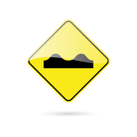 arrow sign: abstract traffic signal on a white background Illustration