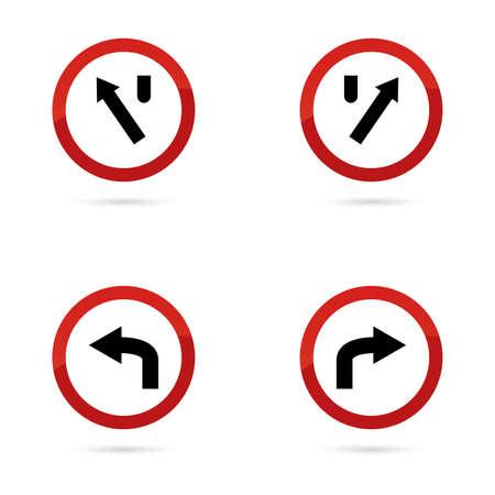 se�ales de transito: las se�ales de tr�fico de resumen sobre un fondo blanco Vectores