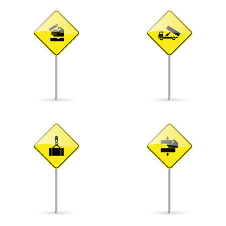 se�ales trafico: abstract traffic signals on a white background