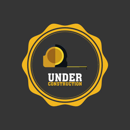 under construction icon: Isolated under construction icon on a round label