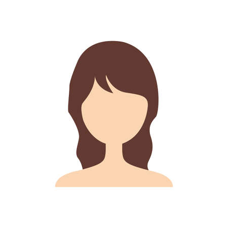 profile picture: Abstract profile picture of a woman with a beautiful hairstyle Illustration