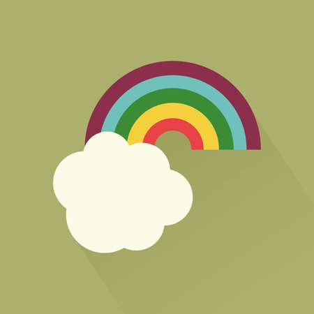 arc en ciel: Saint isol� ic�ne du jour de patrick sur un fond vert