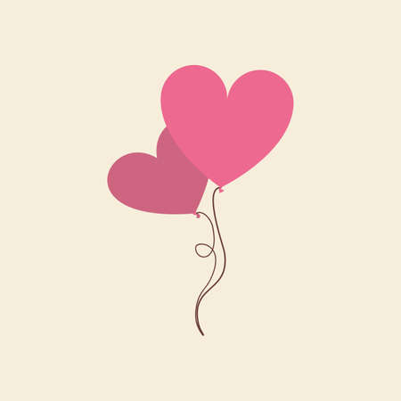 pink balloons: Isolated pink balloons on a colored background Illustration