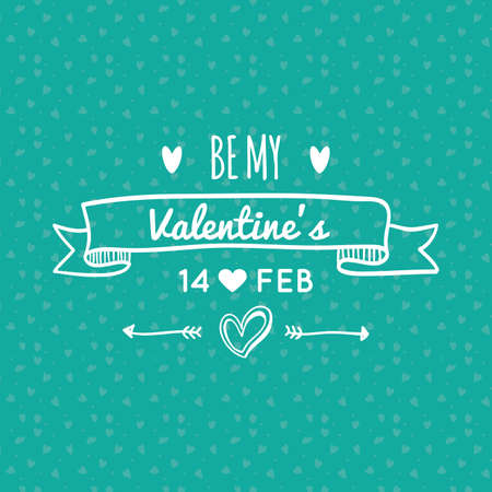 background image: Colored background with text for valentines day