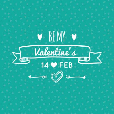 Colored background with text for valentine's day Zdjęcie Seryjne - 46724910