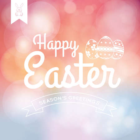 april: Colored background with text and eggs for easter