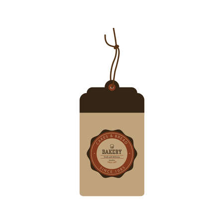 bakery products: Isolated brown label with text for bakery products