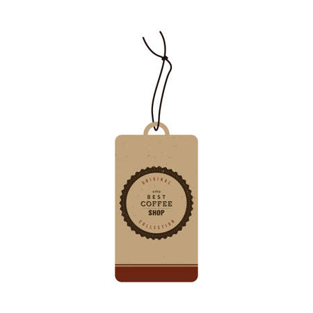roaster: Isolated label with text for coffee shops Illustration