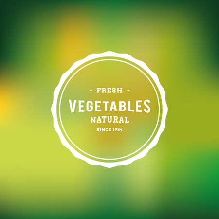 green background: Colored background with a label with text for organic products