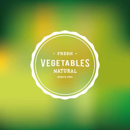 Farbigen Hintergrund mit einem Etikett mit Text für Bio-Produkte