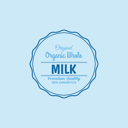 vacas lecheras: Isolated label with text and icon for milk products
