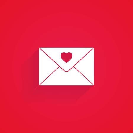 romantic: Isolated love icon on a red background