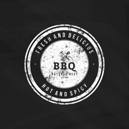 grilling: Isolated label with text for barbecue events Illustration