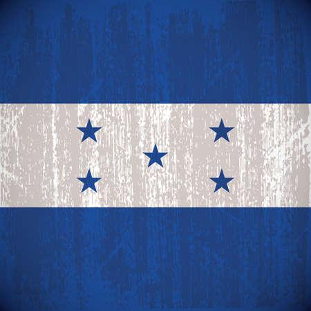 bandera honduras: Color bandera de Honduras con los detalles y la textura del grunge Vectores